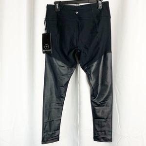90 Degree By Reflex Pants - New 90 degrees by reflex black shiny leggings xl